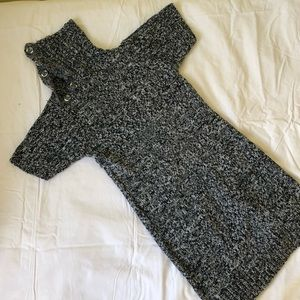 Gray sweater dress-LIGHTLY WORN